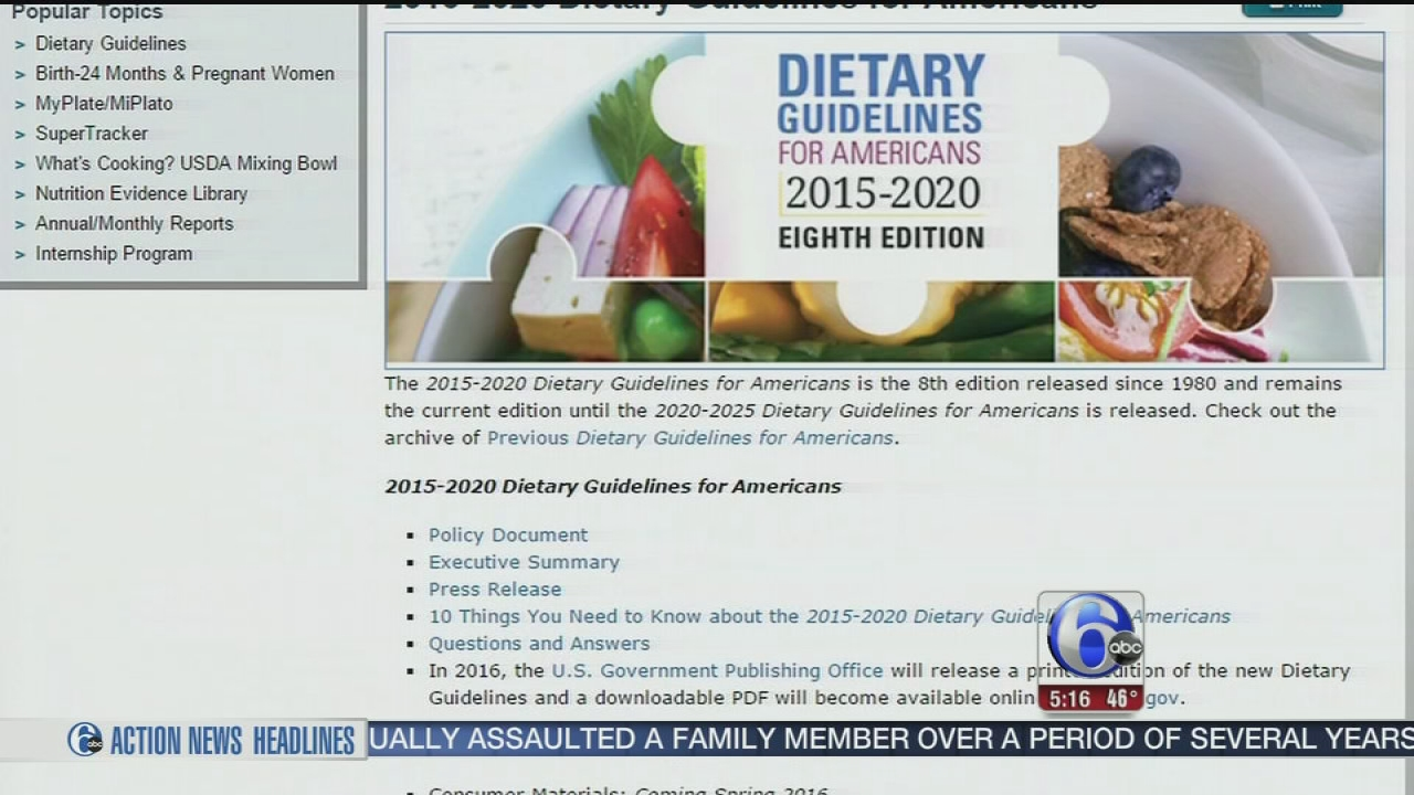VIDEO: Government releases new dietary guidelines