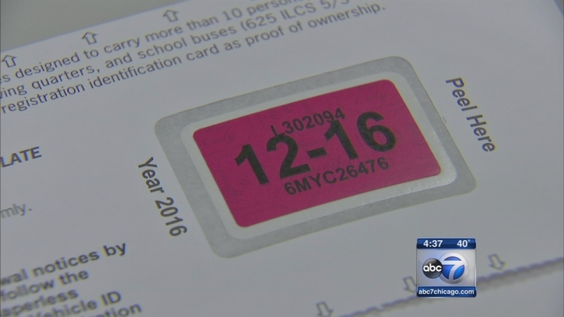 Tickets for expired plate stickers