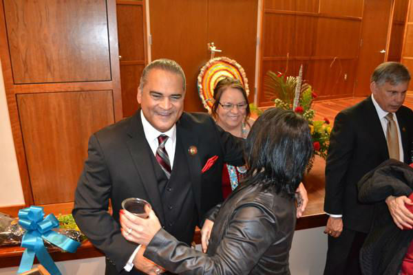 <div class='meta'><div class='origin-logo' data-origin='none'></div><span class='caption-text' data-credit='WTVD Photo/ Courtesy of James Locklear'>The inauguration for newly elected Lumbee Tribal Chairman Harvey Godwin was held Thursday night at the Givens Performing Arts Center at UNC Pembroke.</span></div>