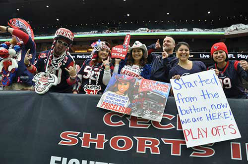 """<div class=""""meta image-caption""""><div class=""""origin-logo origin-image none""""><span>none</span></div><span class=""""caption-text"""">Photos from fans inside and outside NRG Stadium for Saturday's Chiefs-Texans wild-card showdown (Photo/abc13)</span></div>"""