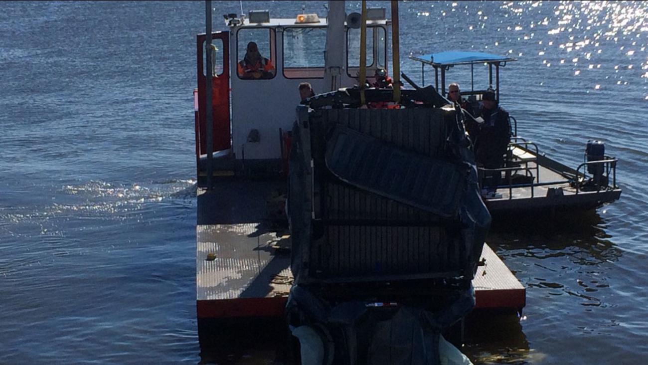 Lake Conroe wreckage