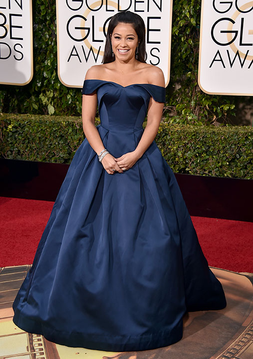 "<div class=""meta image-caption""><div class=""origin-logo origin-image none""><span>none</span></div><span class=""caption-text"">Gina Rodriguez arrives at the 73rd annual Golden Globe Awards on Sunday, Jan. 10, 2016, at the Beverly Hilton Hotel in Beverly Hills, Calif. (Jordan Strauss/Invision/AP)</span></div>"