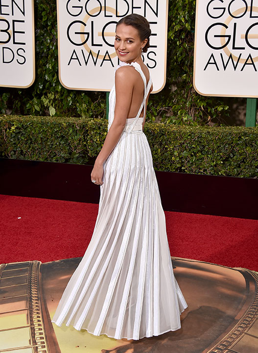 "<div class=""meta image-caption""><div class=""origin-logo origin-image none""><span>none</span></div><span class=""caption-text"">Alicia Vikander arrives at the 73rd annual Golden Globe Awards on Sunday, Jan. 10, 2016, at the Beverly Hilton Hotel in Beverly Hills, Calif. (Jordan Strauss/Invision/AP)</span></div>"