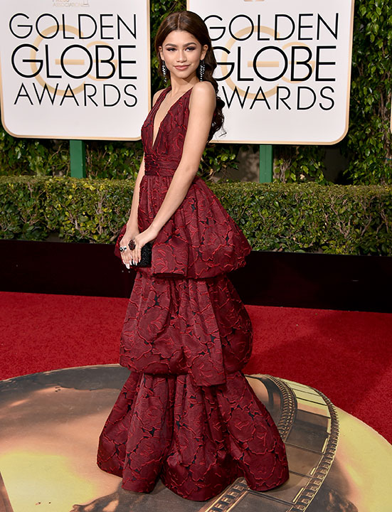 "<div class=""meta image-caption""><div class=""origin-logo origin-image none""><span>none</span></div><span class=""caption-text"">Zendaya arrives at the 73rd annual Golden Globe Awards on Sunday, Jan. 10, 2016, at the Beverly Hilton Hotel in Beverly Hills, Calif. (Jordan Strauss/Invision/AP)</span></div>"
