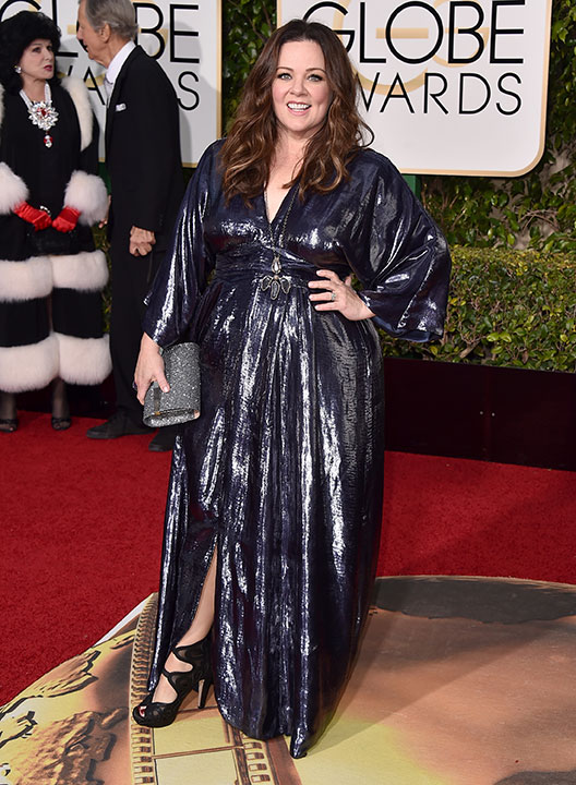 "<div class=""meta image-caption""><div class=""origin-logo origin-image none""><span>none</span></div><span class=""caption-text"">Melissa McCarthy arrives at the 73rd annual Golden Globe Awards on Sunday, Jan. 10, 2016, at the Beverly Hilton Hotel in Beverly Hills, Calif. (Jordan Strauss/Invision/AP)</span></div>"