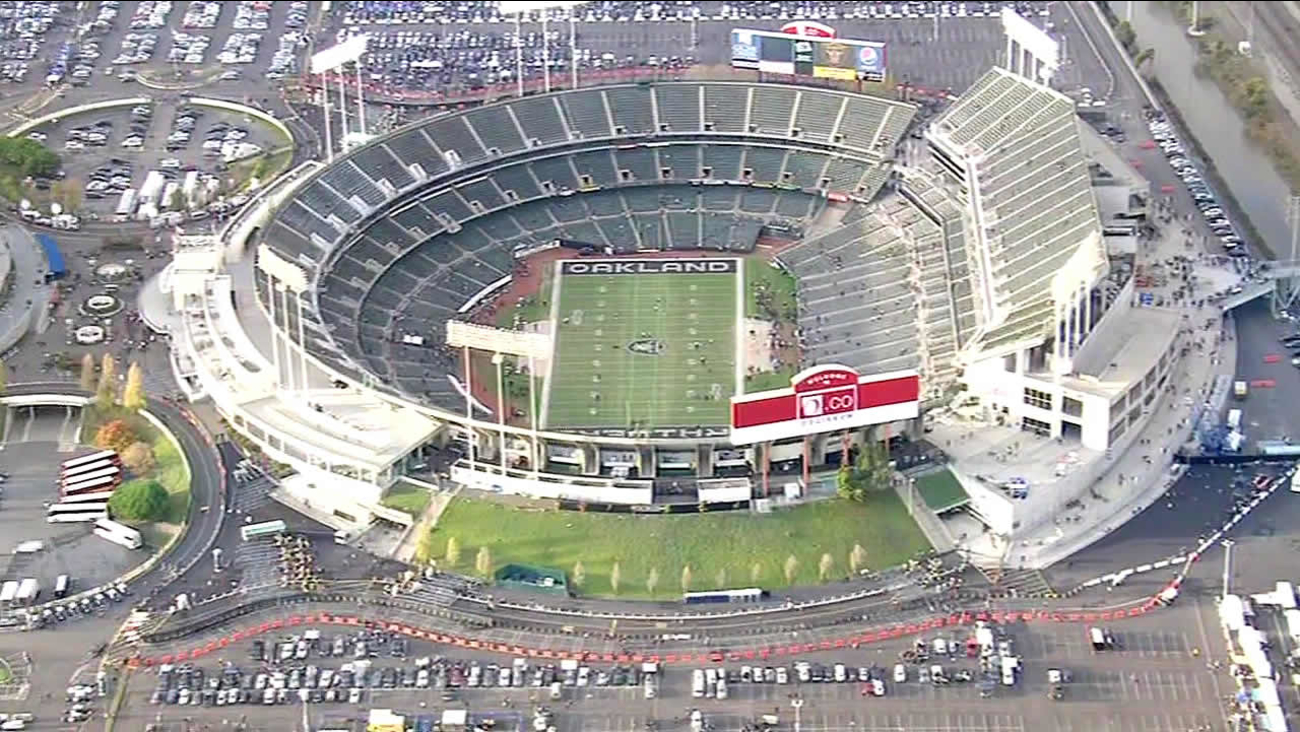 The O.co Coliseum is seen in Oakland, Calif. in this undated image.