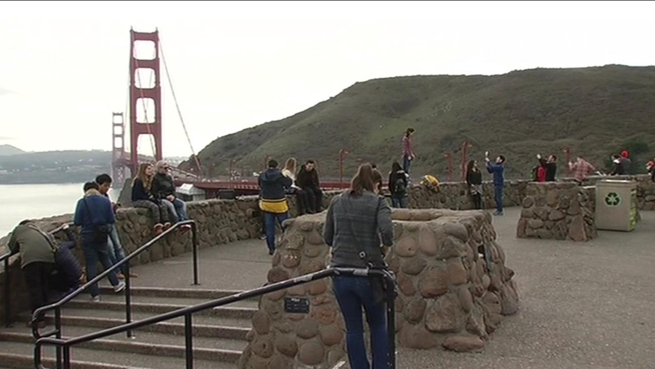 FILE -- Golden Gate Bridge Vista Point, San Francisco, California.