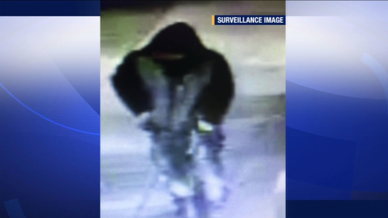 Police released this blurry surveillance photo of a suspect in a kidnapping and sexual assault on Sunday, January 11, 2016 in Oakland, Calif.