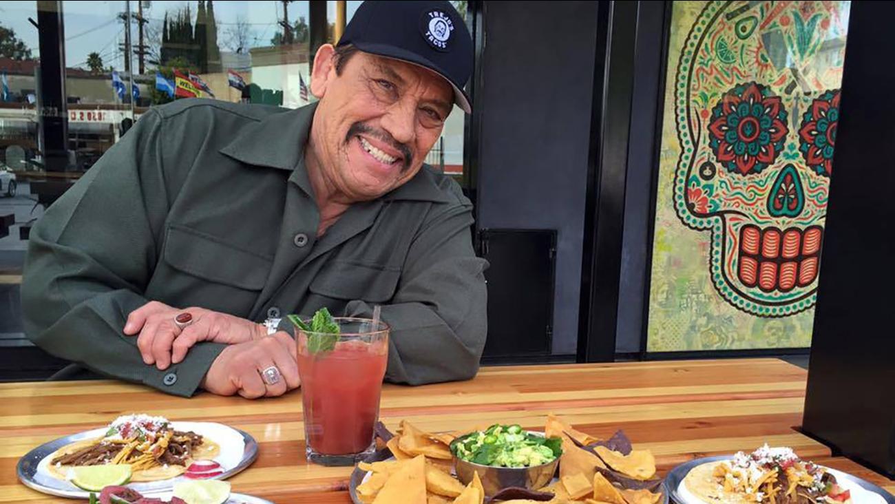 Danny Trejo gives Vista L.A. a preview of his new restaurant, Trejo's Tacos.