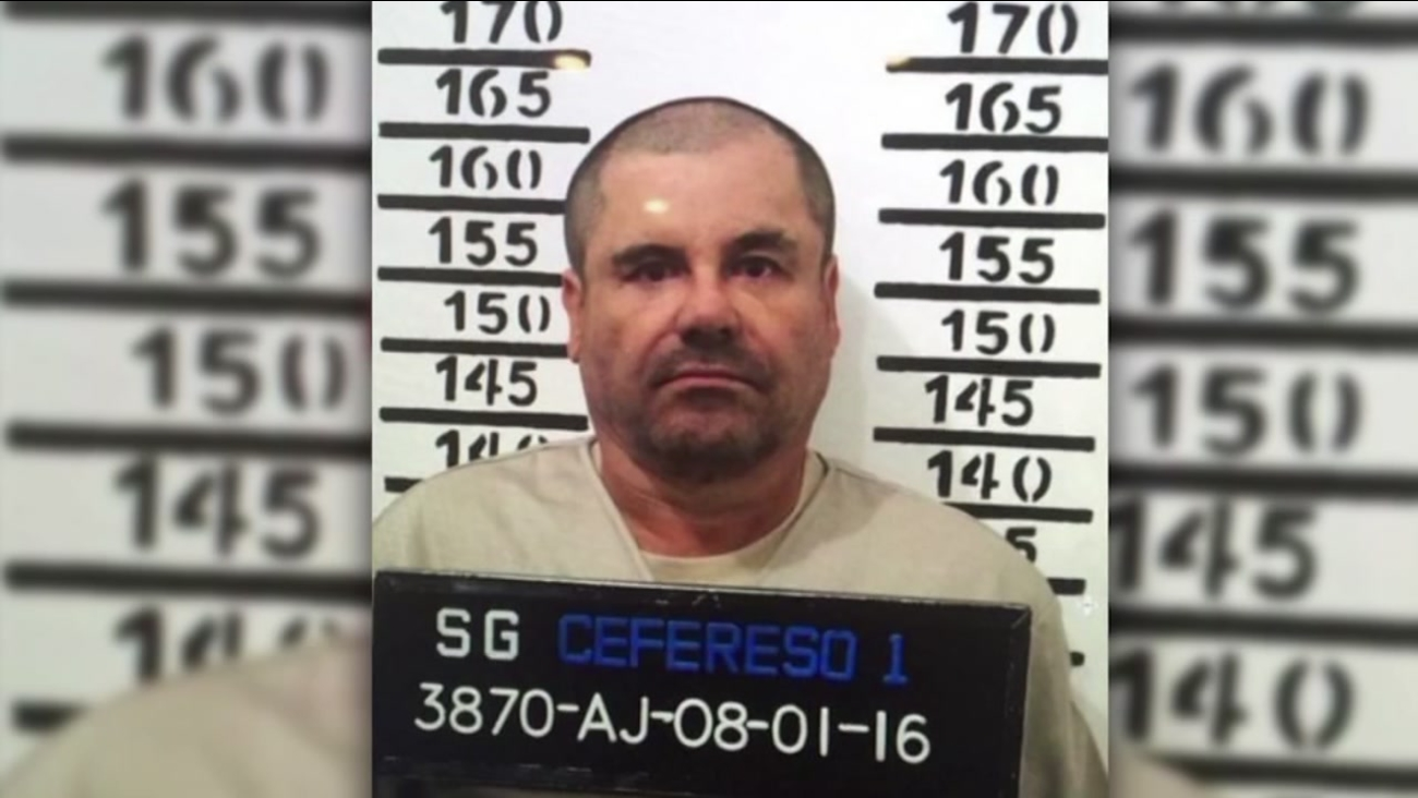 Joaquin 'El Chapo' Guzman, stands for his prison mug shot with the inmate number 3870 at the Altiplano maximum security federal prison in Almoloya, Mexico, Jan. 8, 2016.