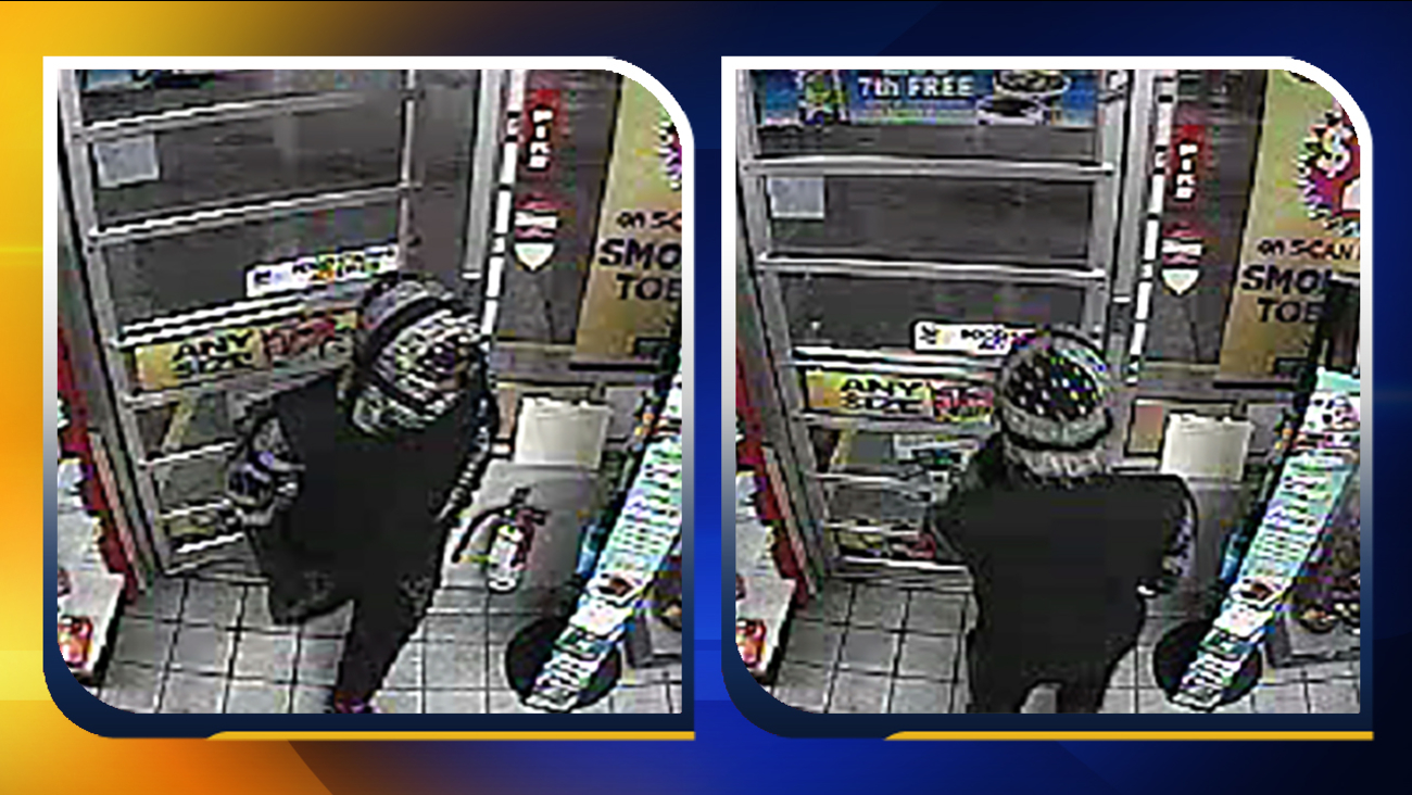 Images of the suspect from Speedway Gas Station robbery.