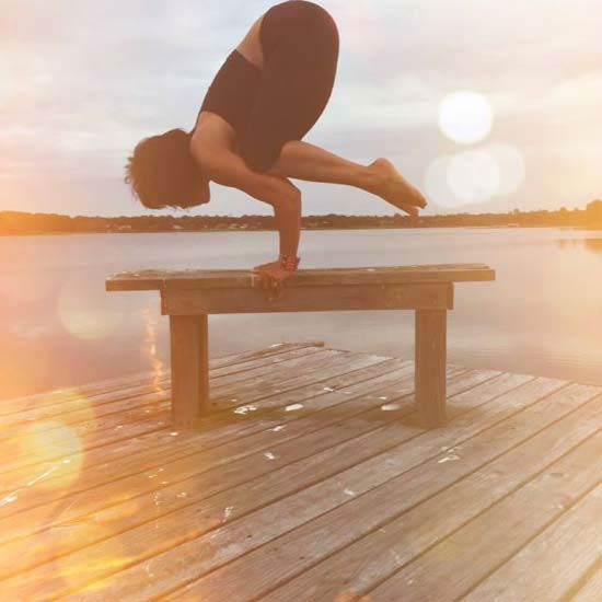 """<div class=""""meta image-caption""""><div class=""""origin-logo origin-image none""""><span>none</span></div><span class=""""caption-text"""">""""Yoga gives me a safe place to practice one of life's essential lessons: to accept success and failure with equal grace and humility.""""  Pose: Crow (Gina Gaston/Layla Salek)</span></div>"""