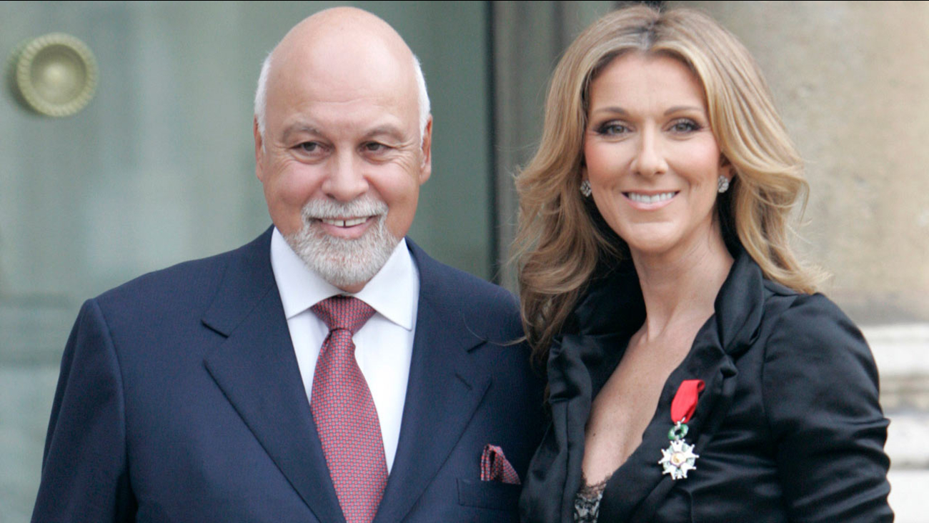 Celine Dion poses with her husband Rene Angelil after being awarded of the Legion d'Honneur by French President Nicolas Sarkozy, in Paris, Thursday, May 22, 2008.