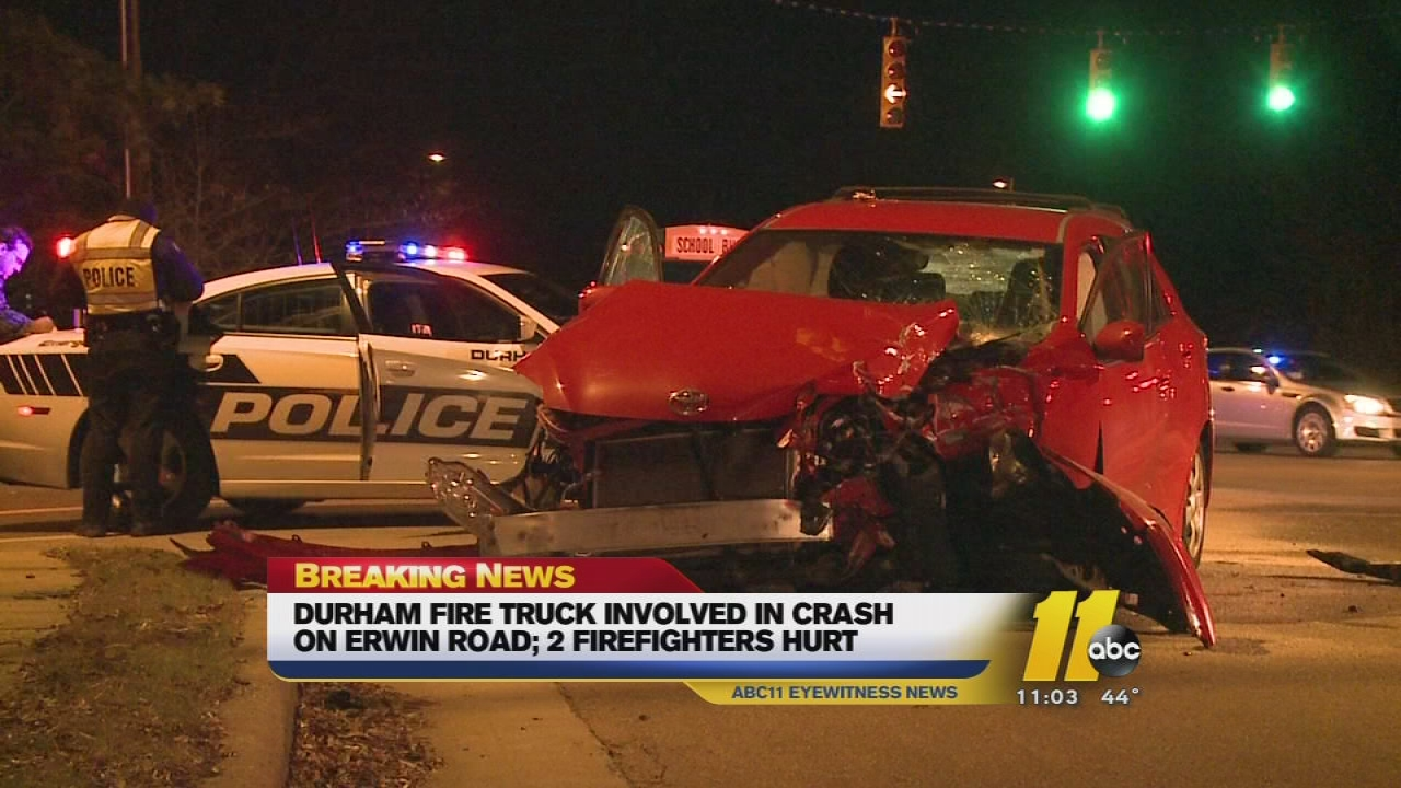 Firetruck involved in crash