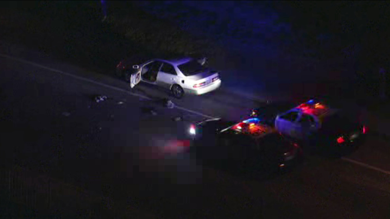A man was shot by deputies with the Los Angeles County Sheriff's Department at Shangri-La Drive and Nathan Hill Drive in Santa Clarita on Thursday, Jan. 14, 2016.