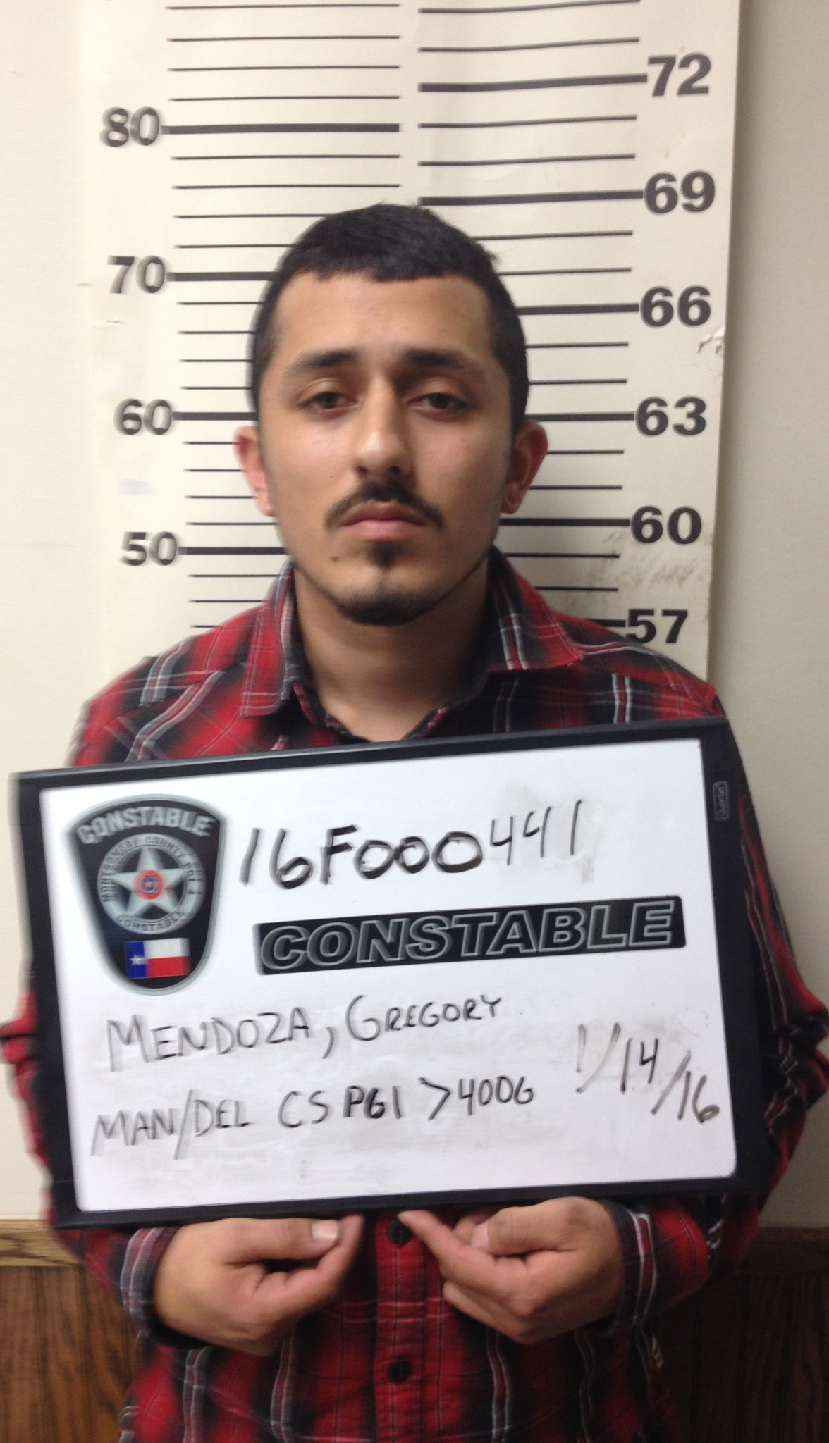 """<div class=""""meta image-caption""""><div class=""""origin-logo origin-image none""""><span>none</span></div><span class=""""caption-text"""">Gregory Ray Mendoza, 25, is charged with a first degree felony after a narcotics sting in Porter.</span></div>"""
