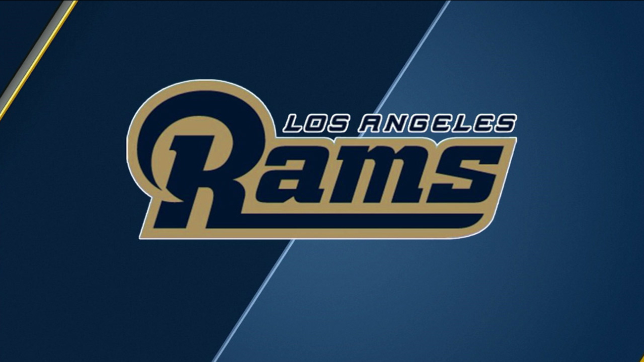 The new logo for the Los Angeles Rams is shown above.