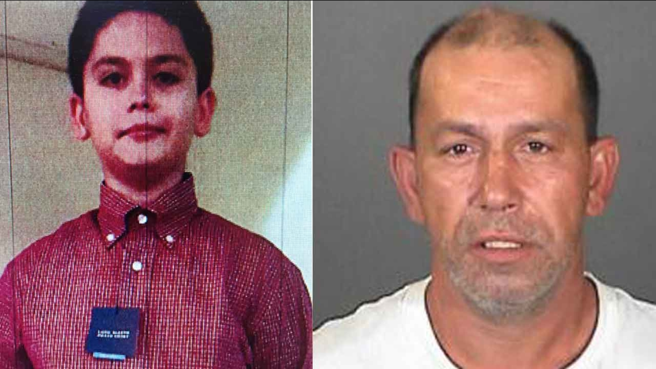 Michael Stevens, 10, (Left), is pictured next to his father, Michael Joseph Stevens (Right), who is believed to have abducted him Friday, Jan. 15, 2016.