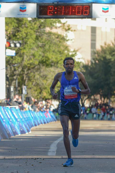 <div class='meta'><div class='origin-logo' data-origin='none'></div><span class='caption-text' data-credit='Photo/David Mackey'>Photos from finish line of Chevron Houston Marathon and Aramco Houston Half Marathon. Send your photos to news@abc13.com</span></div>