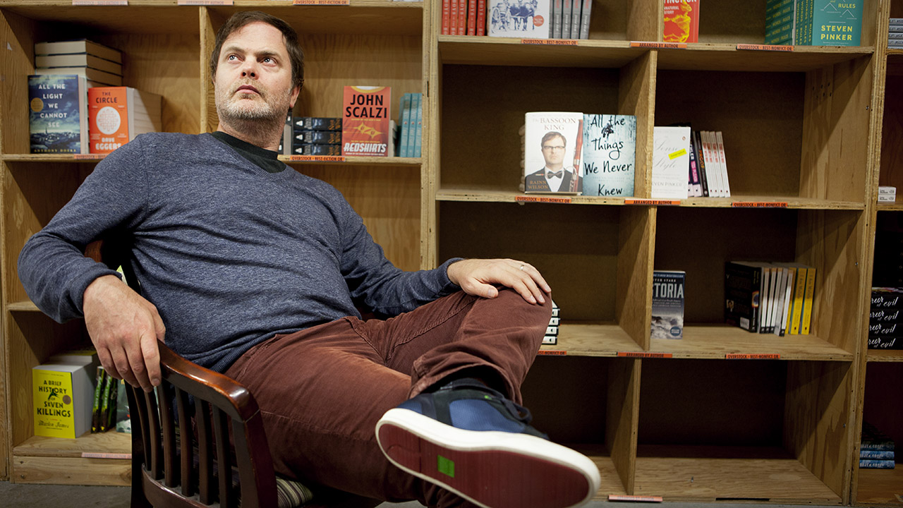 """Rainn Wilson poses for a portrait in promotion of his new book """"The Bassoon King"""" at Powell's Books in Portland, OR. on Sunday, Nov. 15, 2015"""