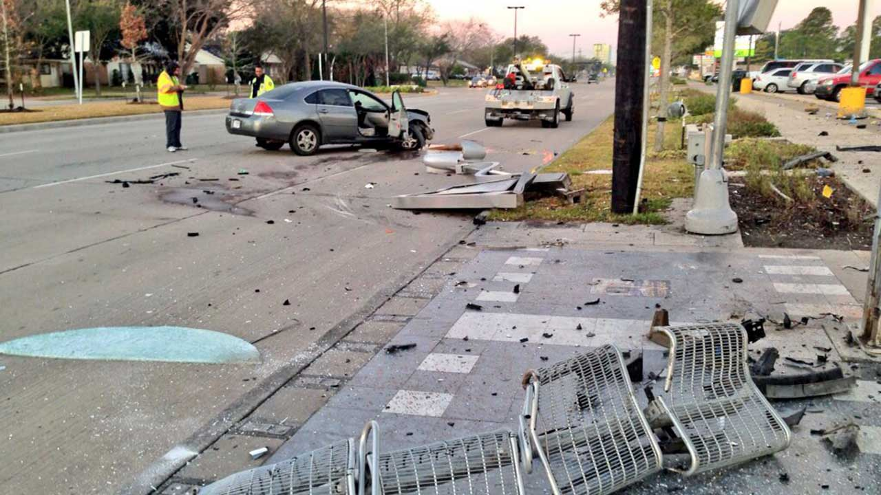 Southwest Houston bus stop accident
