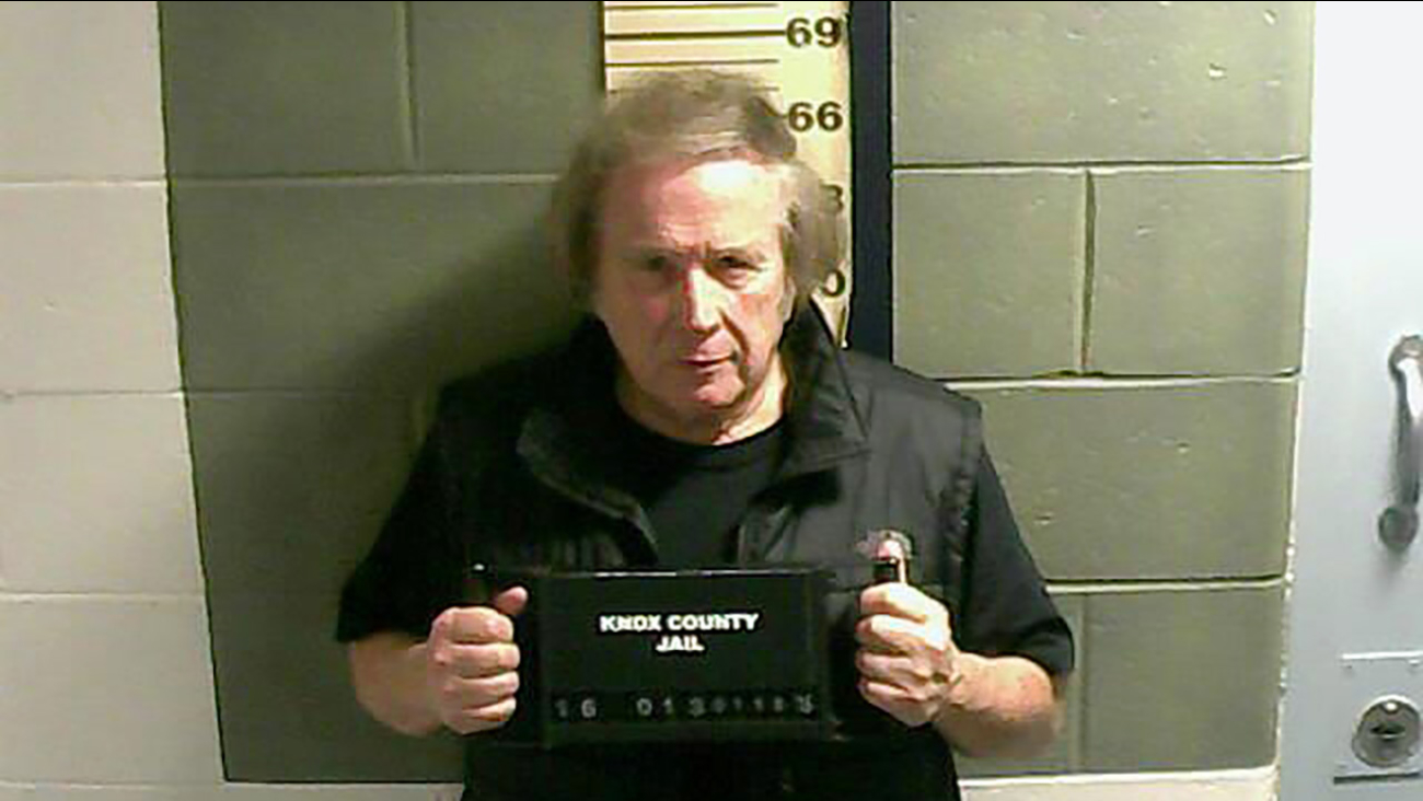 This Monday, Jan. 18, 2016 photo provided by the Knox County Jail shows Don McLean.