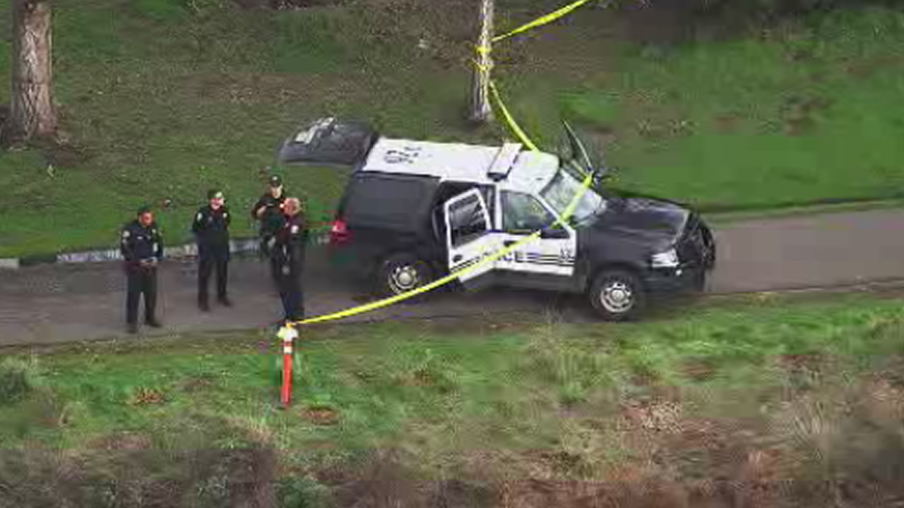 Police are investigation near Martin Luther King, Jr. Regional Shoreline in Oakland, Calif., after a body was found on Monday, January 18, 2016.