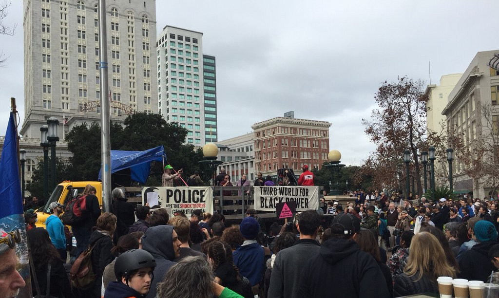 "<div class=""meta image-caption""><div class=""origin-logo origin-image none""><span>none</span></div><span class=""caption-text"">Activists gather in Oakland, Calif., on Monday, January 18, 2016, for the ""96 Hours of Direct Action to Reclaim King's Radical Legacy"" part of the ""Reclaim MLK Weekend."" (KGO-TV)</span></div>"