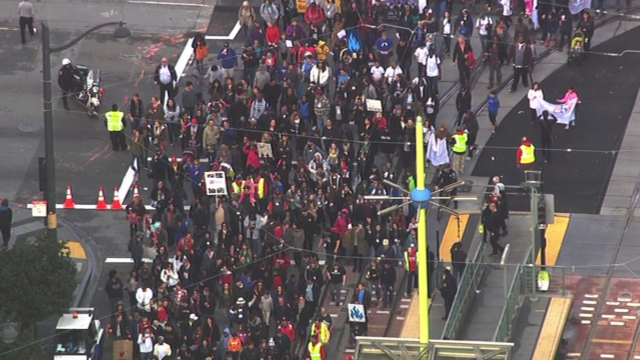 "<div class=""meta image-caption""><div class=""origin-logo origin-image none""><span>none</span></div><span class=""caption-text"">Activists march in San Francisco on Monday, January 18, 2016, to remember the legacy of Martin Luther King , Jr. (KGO-TV)</span></div>"