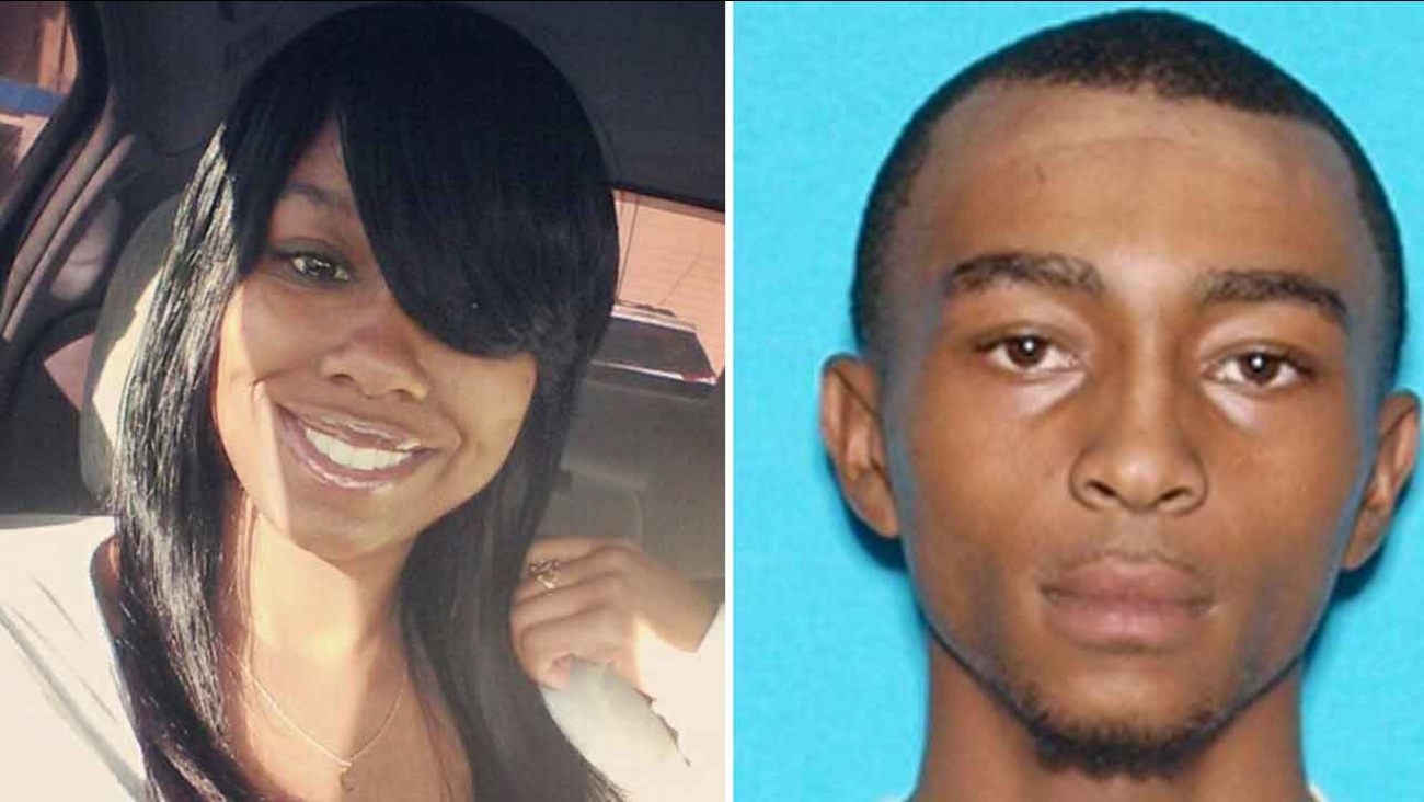 Nakasia James, 18, (left) was sought by police after allegedly fatally stabbing her 21-year-old boyfriend, Dorian Powell (Right) in San Bernardino on Monday, Jan. 11, 2016.