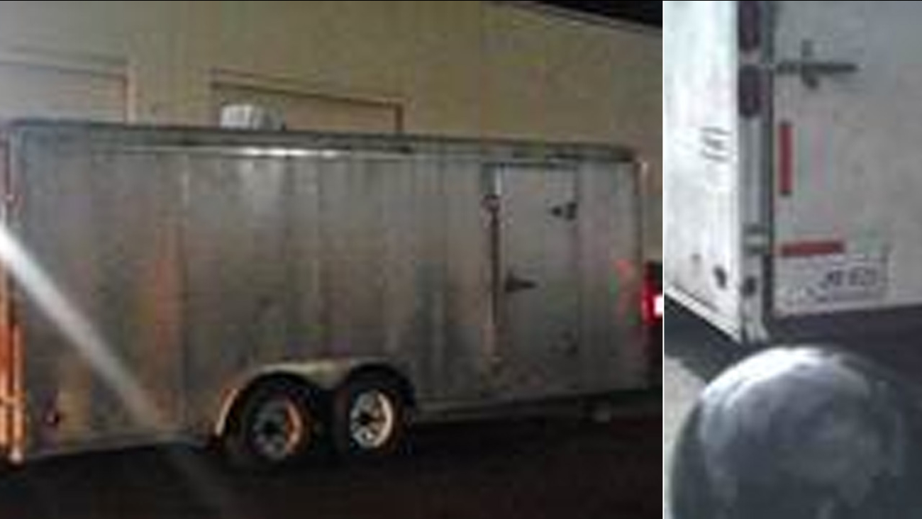 A utility trailer containing $250,000 worth of art was stolen in Chatsworth in November, 2015.