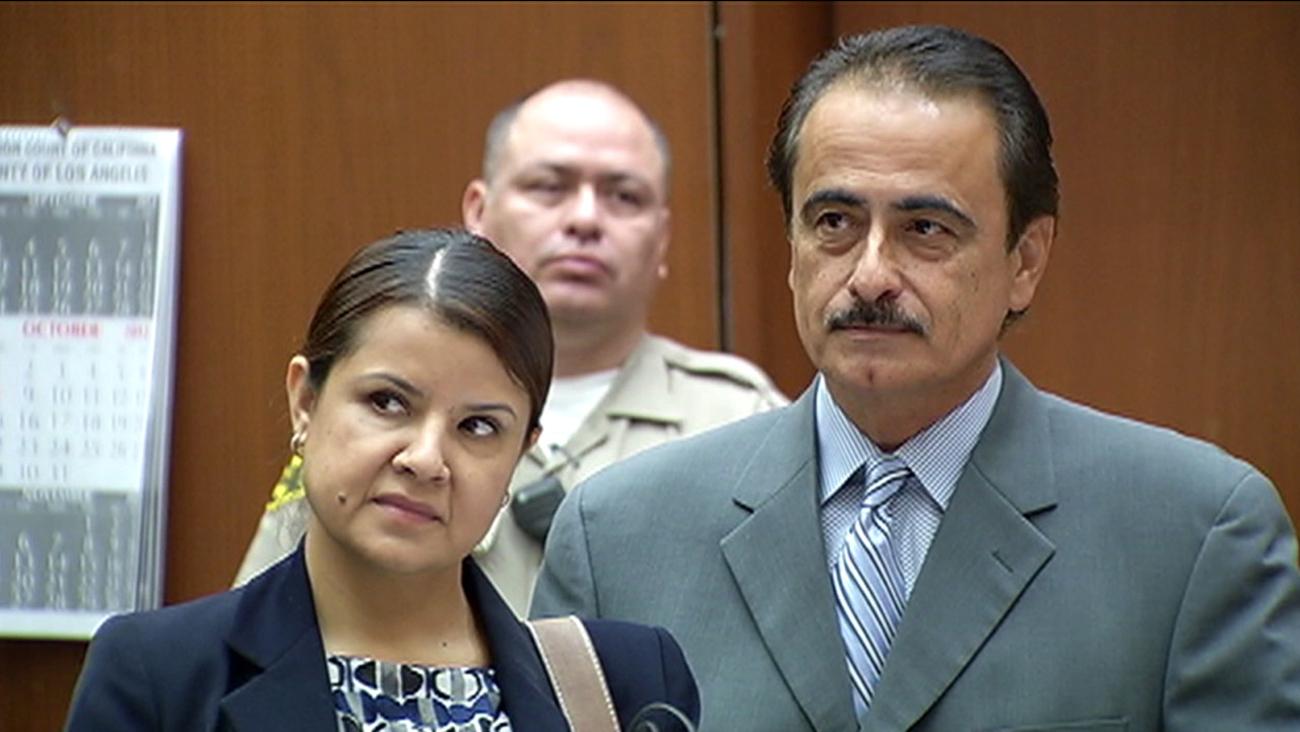 Ex-Los Angeles City Councilman Richard Alarcon and his wife, Flora Montes De Oca Alarcon, are shown in a photo taken during his 2014 trial.