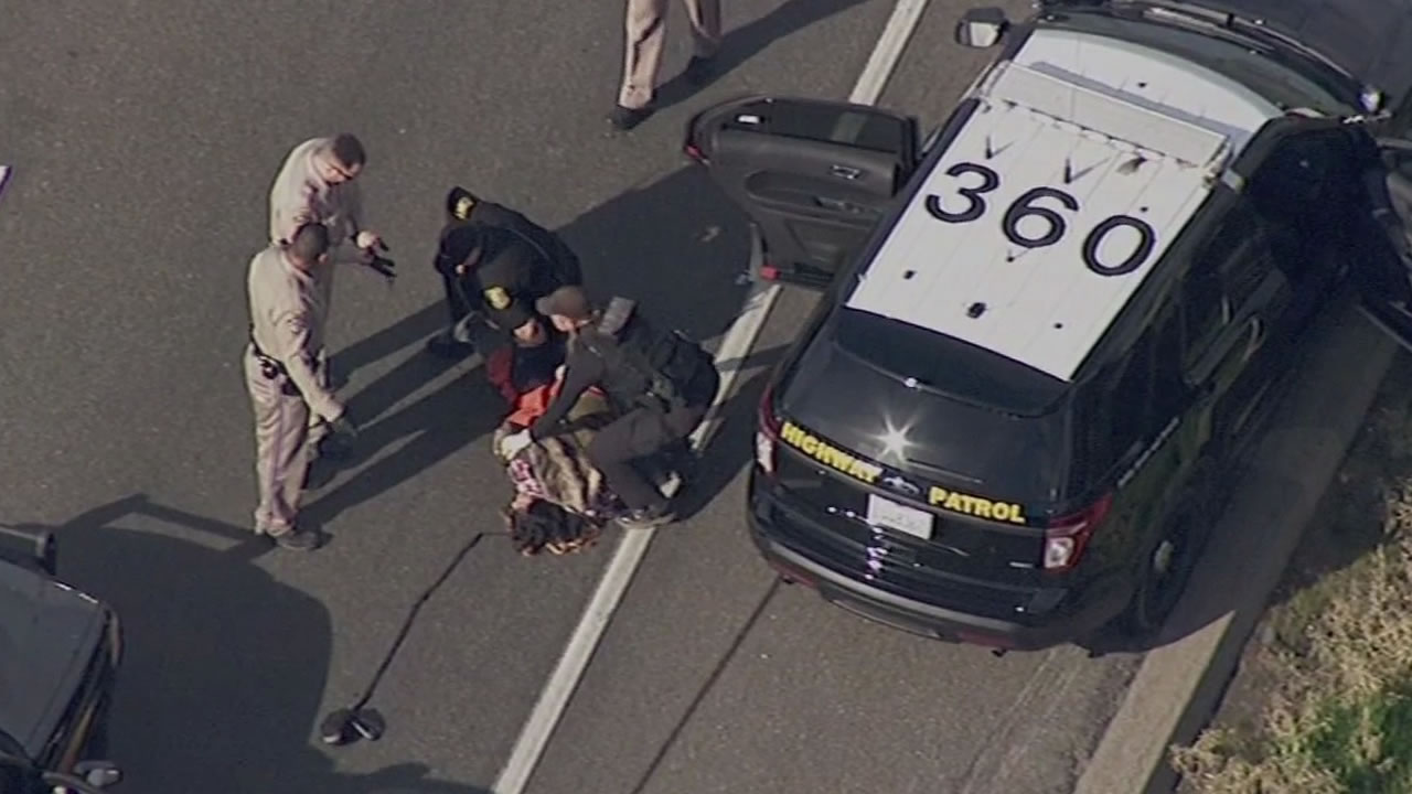 CHP officers take down a San Leandro woman on highway