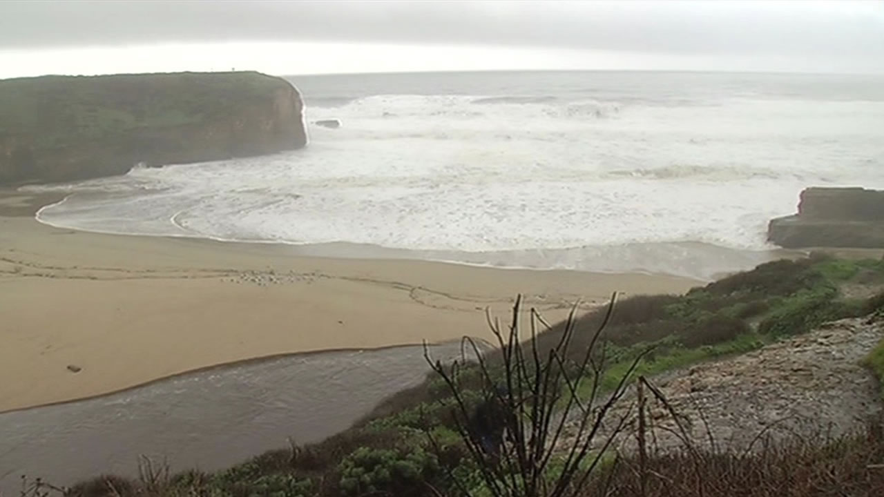 The United States Coast Guard has suspended a search for two UC Santa Cruz college students who were swept out to sea Jan. 18, 2016 near Davenport, Calif.