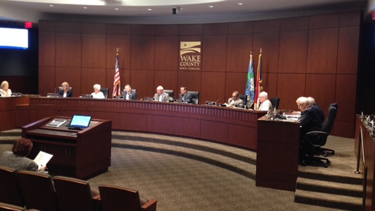 The Wake County Board of Commissioners (WTVD Photo/Tommy Harris)