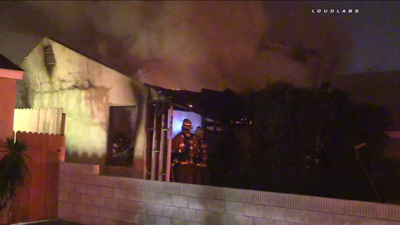 One person was killed in a house fire in the 14000 block of Dumont Avenue in Norwalk Friday, Jan. 22, 2016.