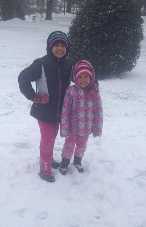 "<div class=""meta image-caption""><div class=""origin-logo origin-image none""><span>none</span></div><span class=""caption-text"">Cheyenne and Brooklyn are loving the snow in Roxboro.</span></div>"