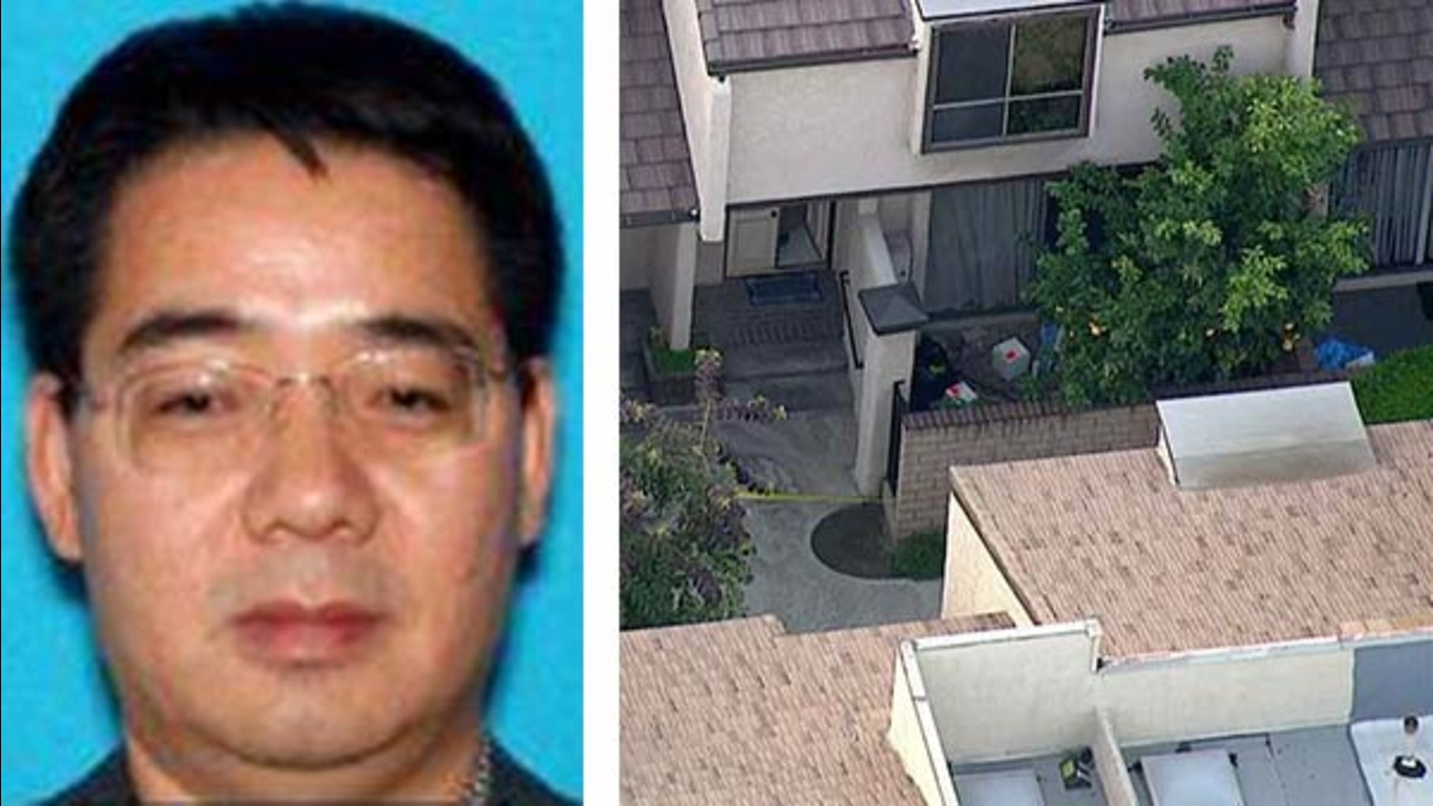 Deyun Shi, 44, is wanted in the double murder of his nephews in Arcadia and the attempted murder of his wife in La Canada, according to the Los Angeles County Sheriff's Department.