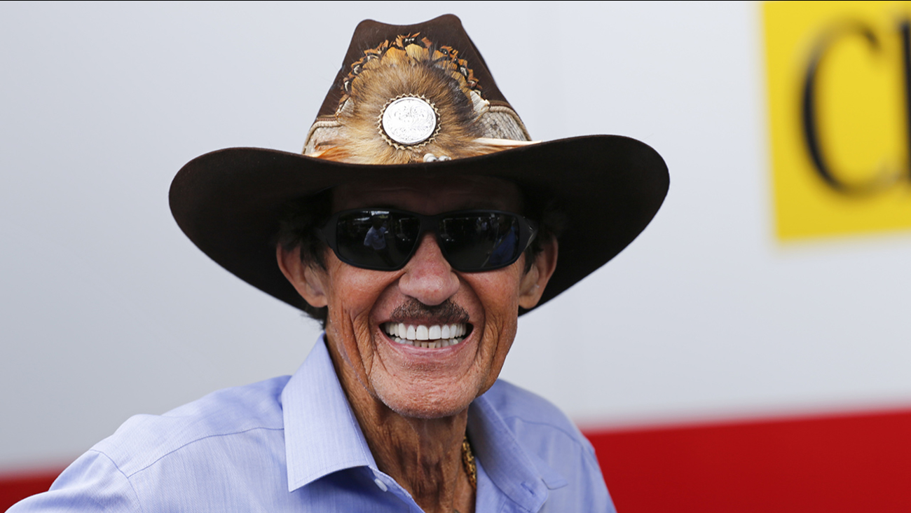 Car owner and former driver Richard Petty stands in the garage area prior to a NASCAR Sprint Cup practice session at Daytona International Speedway, Friday, July 3, 2015