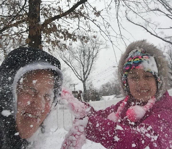 """<div class=""""meta image-caption""""><div class=""""origin-logo origin-image none""""><span>none</span></div><span class=""""caption-text"""">Mom Jenn gets snow bombed by her daughter Jaylynn. (Action News Viewer)</span></div>"""