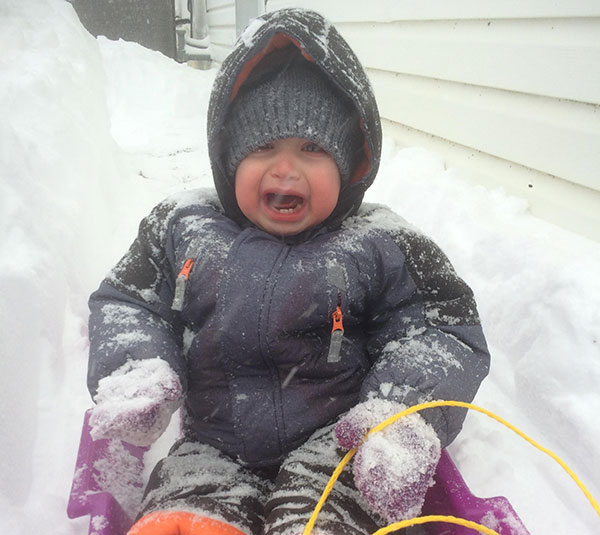 """<div class=""""meta image-caption""""><div class=""""origin-logo origin-image none""""><span>none</span></div><span class=""""caption-text"""">It's safe to say 17-month-old Xander is not a fan of snow. (Action News Viewer)</span></div>"""