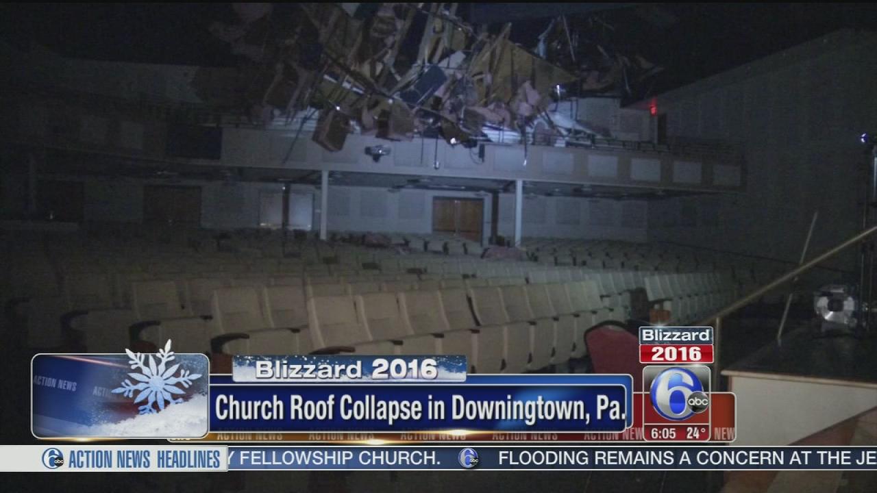 Snow Blamed For Downingtown Church Roof Collapse 6abc Philadelphia