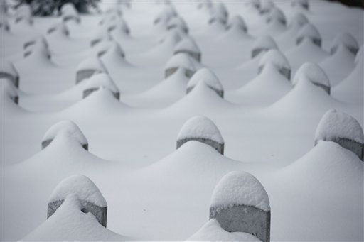 "<div class=""meta image-caption""><div class=""origin-logo origin-image none""><span>none</span></div><span class=""caption-text"">Headstones are nearly covered by snow at Arlington National Cemetery, Saturday, Jan. 23, 2016 in Arlington, Va. (AP Photo/ Alex Brandon)</span></div>"