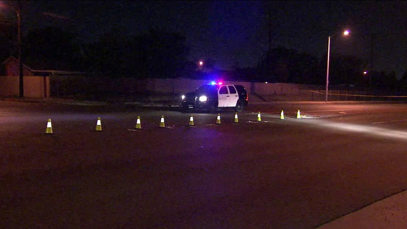 A man was struck and killed by a hit-and-run driver while walking near the area of Fairview Street and Edinger Avenue in Santa Ana on Sunday, Jan. 24, 2016.