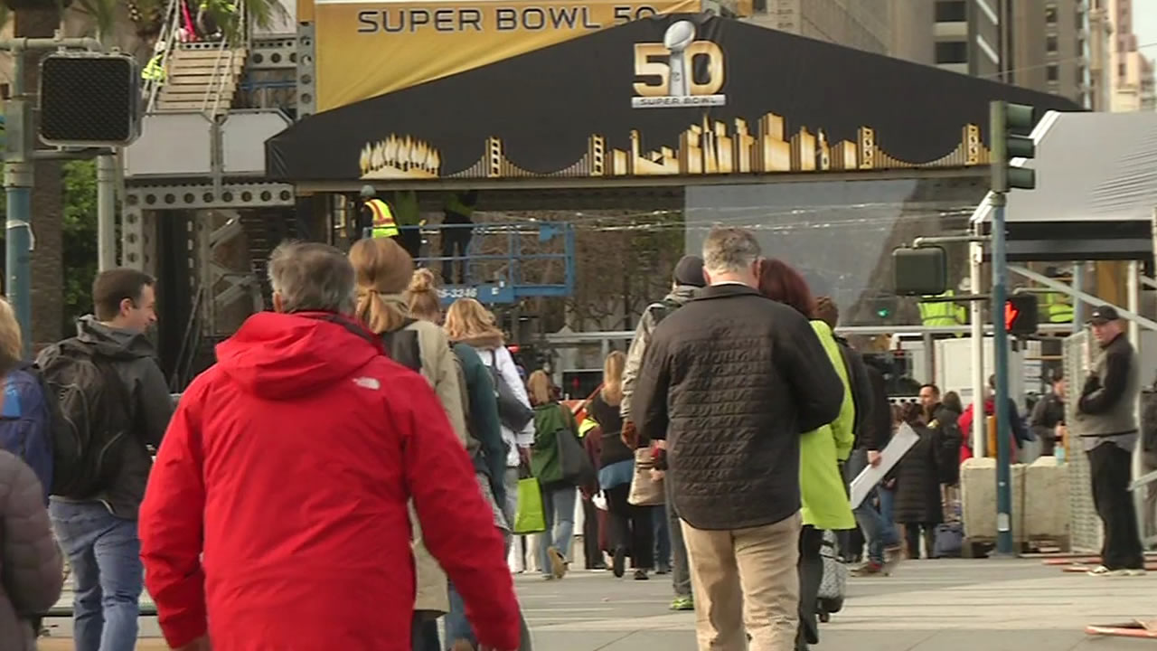 "<div class=""meta image-caption""><div class=""origin-logo origin-image none""><span>none</span></div><span class=""caption-text"">Construction underway as the Bay Area hosts Super Bowl 50!  In this photo taken Monday, Jan. 25, 2016, is Justin Herman Plaza in San Francisco. (KGO-TV)</span></div>"
