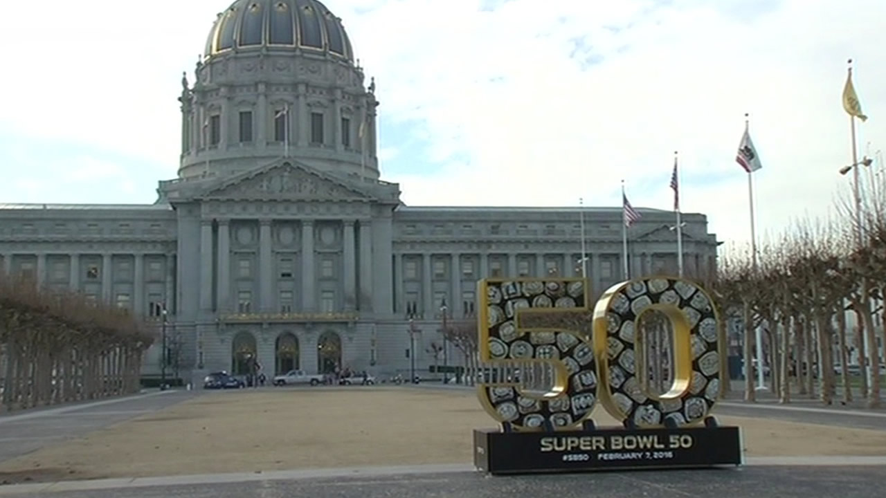 "<div class=""meta image-caption""><div class=""origin-logo origin-image none""><span>none</span></div><span class=""caption-text"">The Bay Area hosts Super Bowl 50!  In this photo taken Monday, Jan. 25, 2016, is the scene at Civic Center in San Francisco. (KGO-TV)</span></div>"