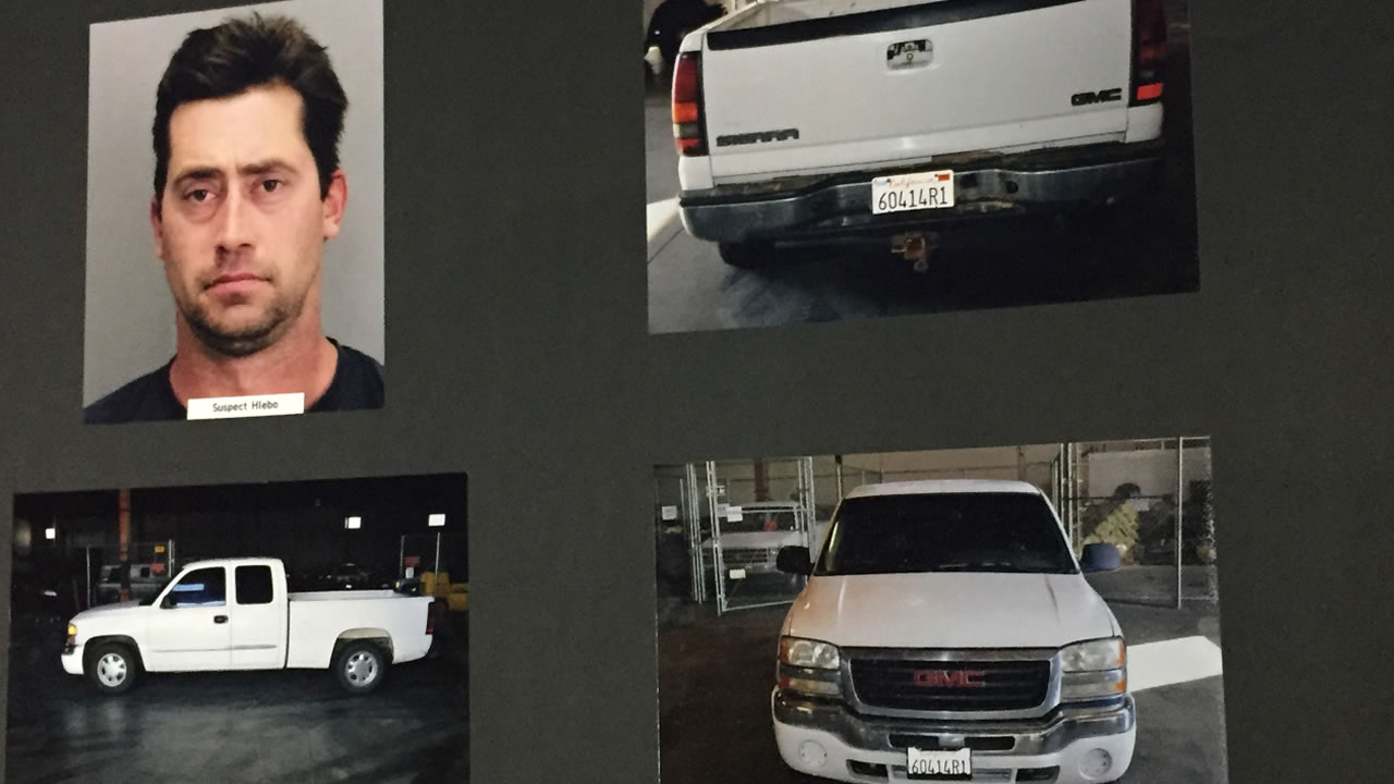San Jose, Calif. police released photos of a suspect's vehicle connected with the homicide of 28-year-old Kyle Myrick on Tuesday, January 26, 2016.