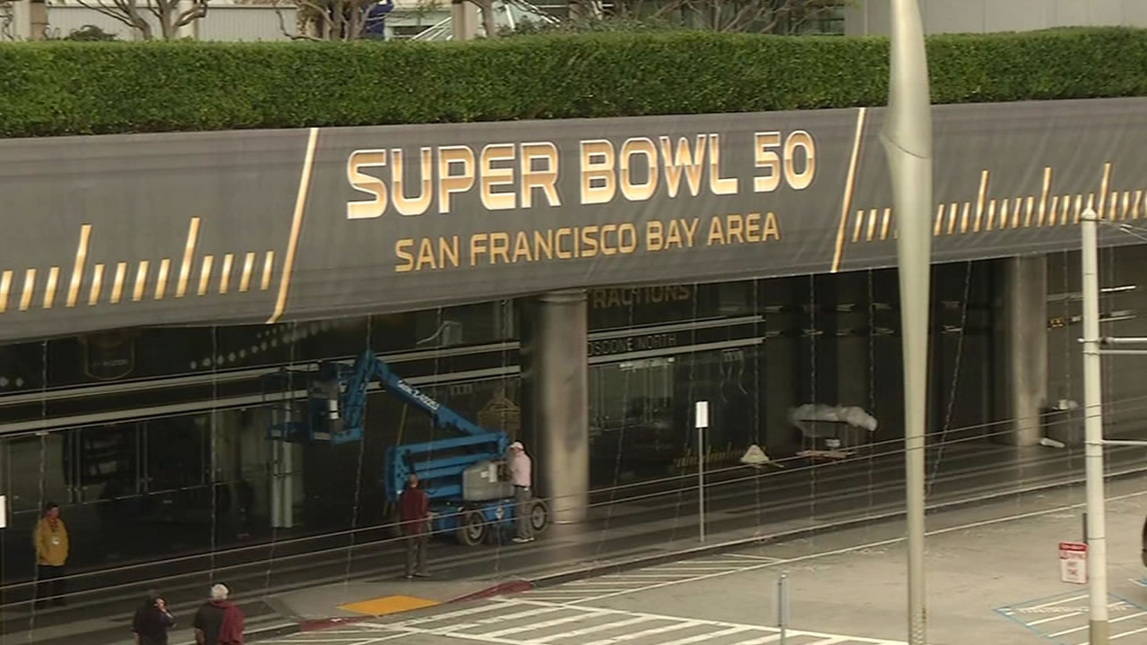 "<div class=""meta image-caption""><div class=""origin-logo origin-image none""><span>none</span></div><span class=""caption-text"">Super Bowl 50 has the Bay Area buzzing!  Preparations are underway all around San Francisco on Tuesday, Jan. 26, 2016. (KGO-TV)</span></div>"
