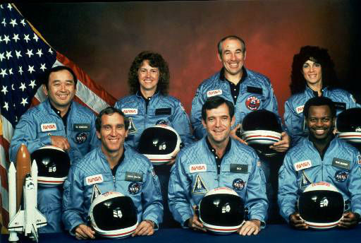 "<div class=""meta image-caption""><div class=""origin-logo origin-image none""><span>none</span></div><span class=""caption-text"">This is the official NASA photo of the crew of the Space Shuttle Challenger (AP Photo/ Anonymous)</span></div>"