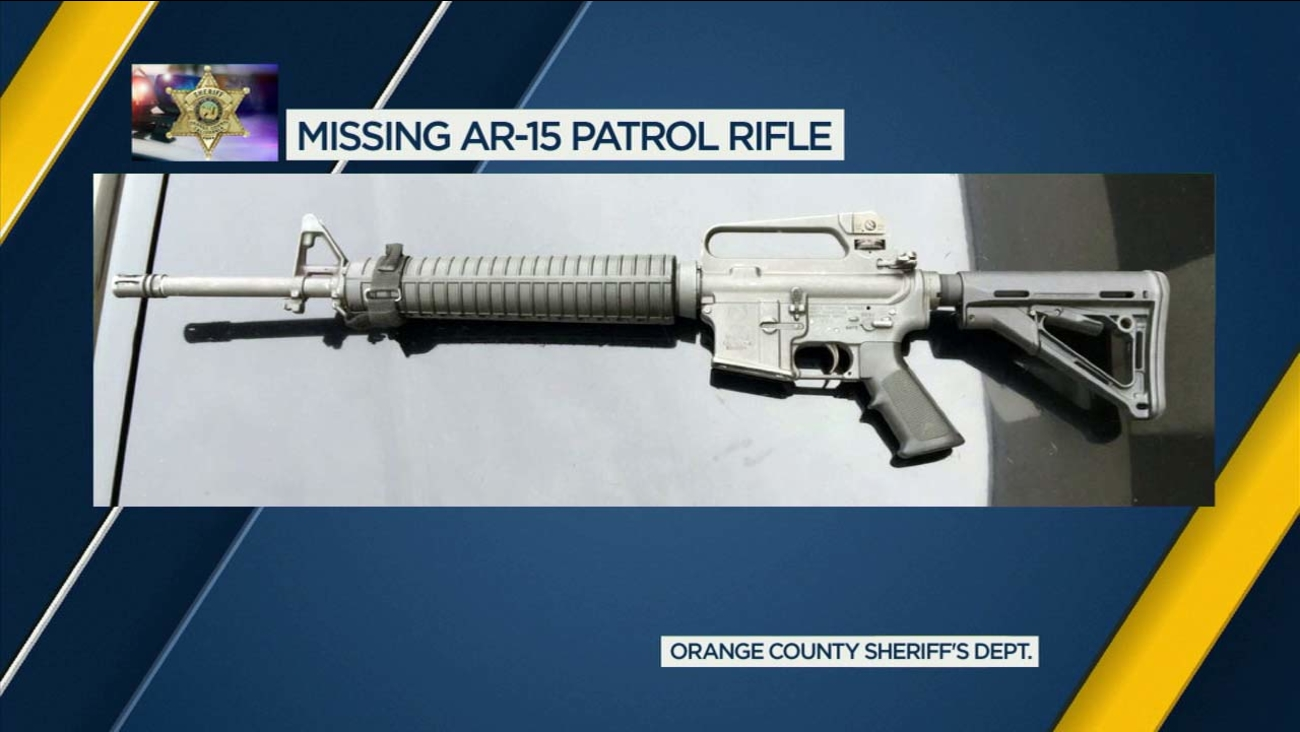 File photo of an AR-15 rifle provided by the Orange County Sheriff's Department.
